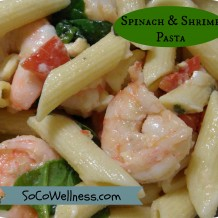 Amazing Spinach & Shimp Pasta